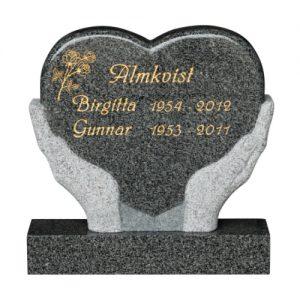 En gravsten som reses vid en grav för att märka ut vart personen ligger begravd.
